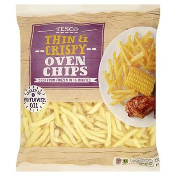 Tesco Thin & Crispy Oven Chips 1.5 kg