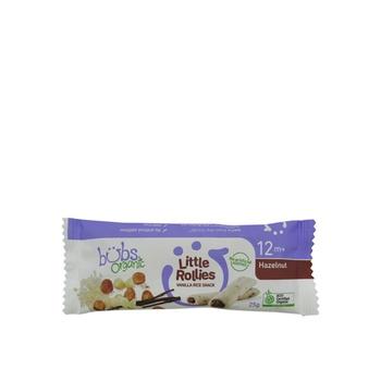 Organic Bubs Little Rollies Vanilla Rice Snack - Hazelnut 25g