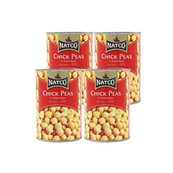 Natco Chick Peas In Salted Water 400g Pack Of 4