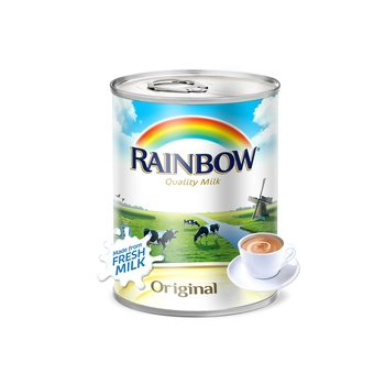 Rainbow Evaporated Milk Original - Easy open 385ml (Vitamin D)
