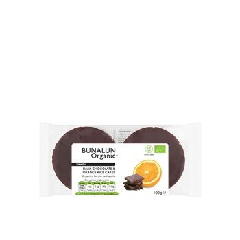 Bunalun Organic Snacks Dark Chocolate & Orange Rice Cakes 100g