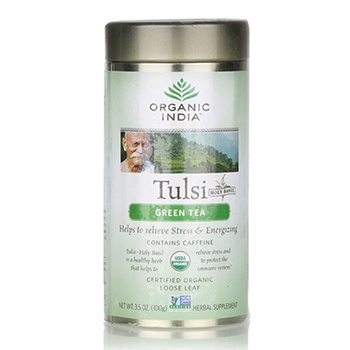 Organic India Tulsi Green Tea Bag 100g Tin