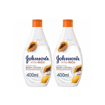 Johnsons Body Lotion - Vita-Rich Smoothing Papaya 400Ml Pack Of 2