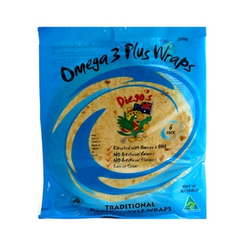 Diegos Tortilla Omega 3 DHA 258g