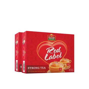 Brooke Bond Red Label Tea Bag 2 x 100's @Special Price