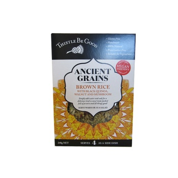 Thistle Be Good Ancient Grains - Brown Rice Black Quinoa Walnut & Mushroom 240g