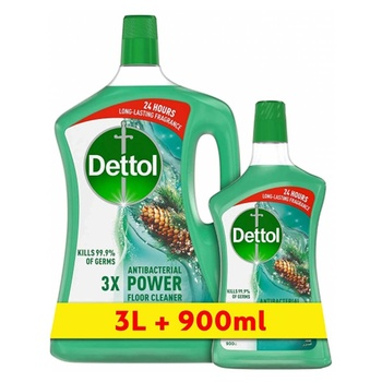 Dettol Pine Healthy Home All- Purpose Cleaner 3L + 900 ml
