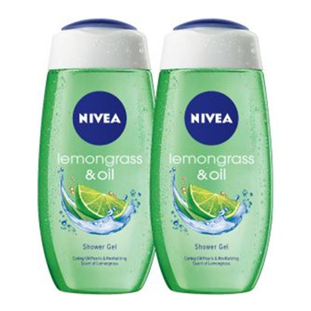Nivea Shower Gel Lemongrass & Oil 2X250ml