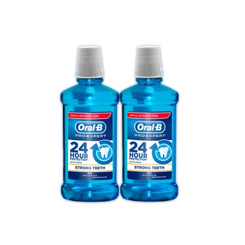Oral B Pro Expert Mouthwash Strong Teeth 250 ml Pack of 2 @ 33% Off