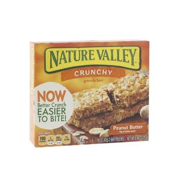 Natura Valley Cereal Bar Crunchy Peanut Butter 252g