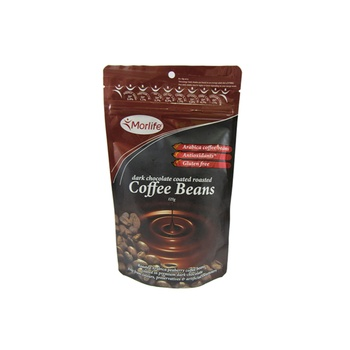 Morlife Dark Chocolate Coated Roasted Coffee Beans 125g