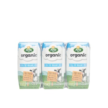 Arla Organic Full Fat Milk 6x200 ml