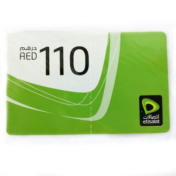 Etisalat Mobile Recharge Card 110 AED