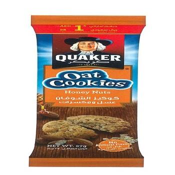Quaker Oat Cookies Honey Nuts 27g