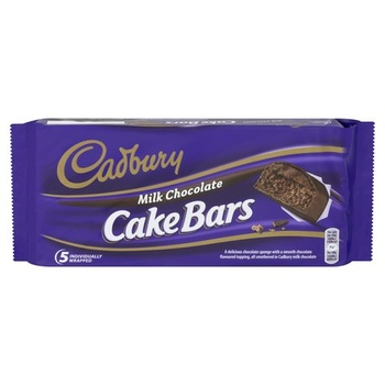 Cadbury Milk Chocolate Cake Bars 130g