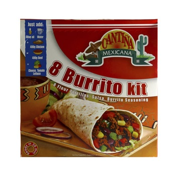 Cantina Burrito Dinner Kit 8 X 1 525g