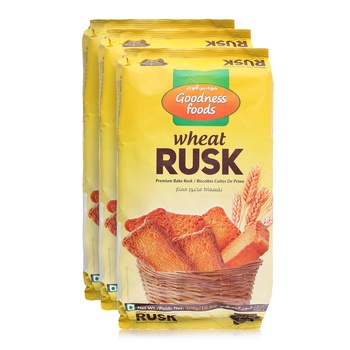 Goodness Foods Wheat Rusk 3 x 300g
