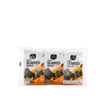 CJ Bibigo Crispy Seaweed Snacks Sesame 3 X 5g
