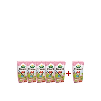 Arla Disney Organic Milk Strawberry 6 x 200ml