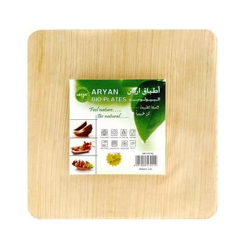Aryan Bioplate 15cm Classic Square Shape 10pcs