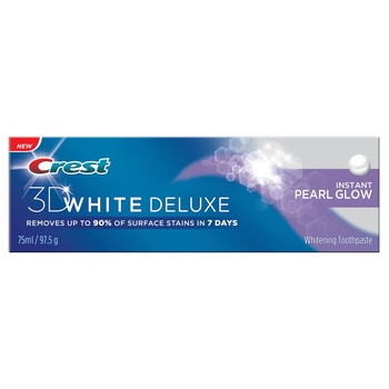 Crest 3D White Deluxe Whitening Toothpaste 75ml