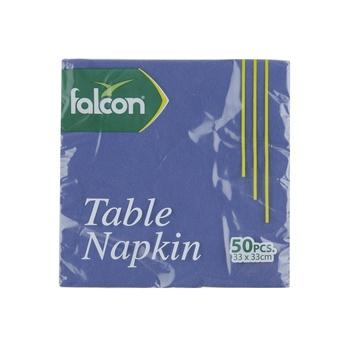 Falcon Blue Napkin 33X33cm 50s