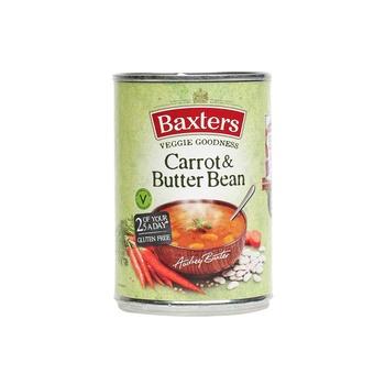 Baxters soup carrot & butter bean 400g