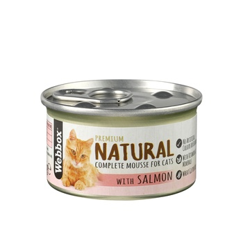 Webbox Natural Cat Food Mousse Salmon 85g