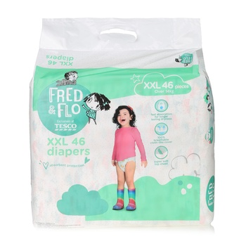 Tesco Fred & Flo Tape Diapers XXL 46 Pieces