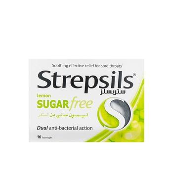 Strepsils Lozenges Lemon Sugar Free 16pcs
