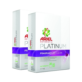 Ariel Platinum Pure Detergent Front Loading 2.5kg Pack of 2