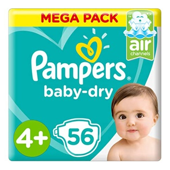 Pampers Active Baby 4+ Large 56 Jumbo Pack