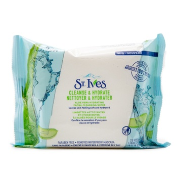 St. Ives Aloe Vera Hydrating Facial Cleansing Wipes 25 Wipes