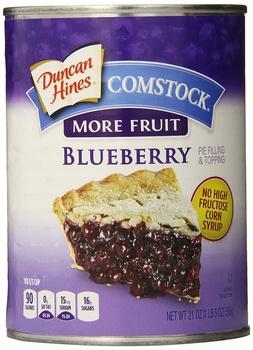Comstock pie filling blueberry  21oz.