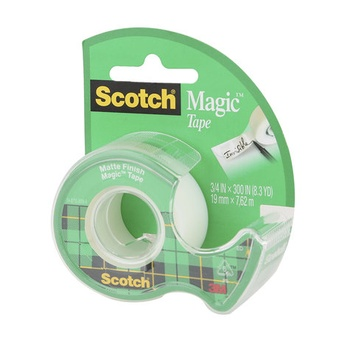 3M Scotch Magic Tape with Plastic Dispenser