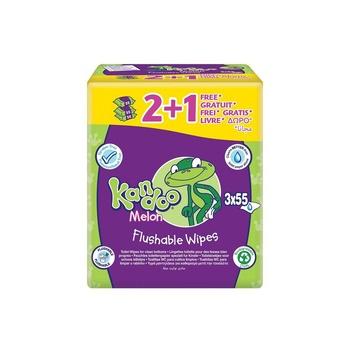 Kandoo Melon 3X55 Sheets Flusable Wipes (2+1 Free)