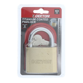 Dekton Titanium Padlock 63mm
