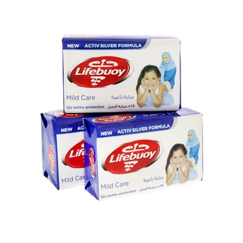 Lifebuoy anti bacterial bar mild care 160g pack of 3