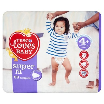 Tesco Loves Baby Fit Size 4 38s