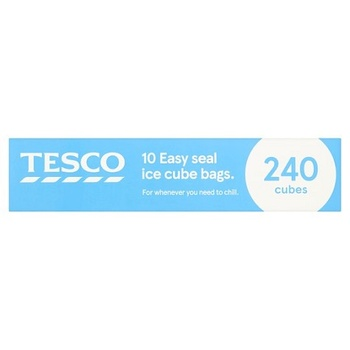 Tesco Easy Seal Ice Cube Bags 10S