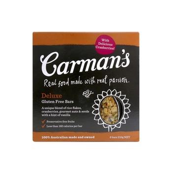 Carmans Deluxe Gluten Free Bars 210g