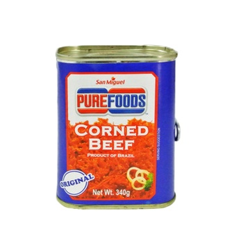 Purefoods Regular Halal Corned Beef 340 gms (Red Label)