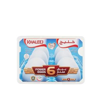 Khaleej Large Eggs White 6'S