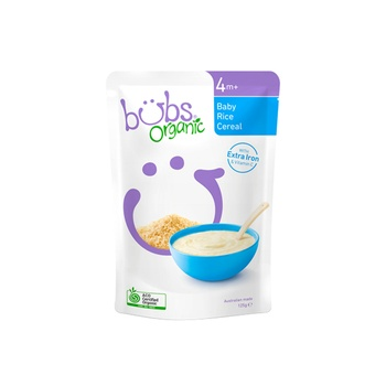 Organic Bubs Baby Rice Cereal 125g