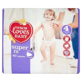 Tesco Loves Baby Fit Size 4 40s