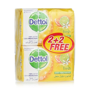 Dettol Bar Soap Fresh 4 x 120 gms (2+2 Free)