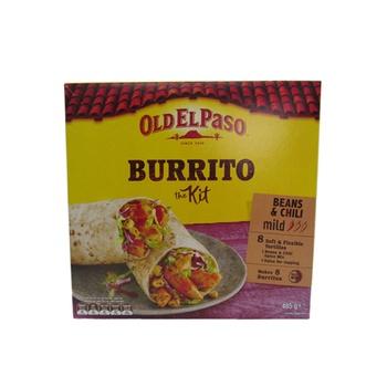 Old El Paso Burrito Kit - Beans & Chili 485g