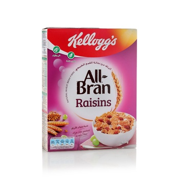Kelloggs Cereal All Bran Raisin 500g