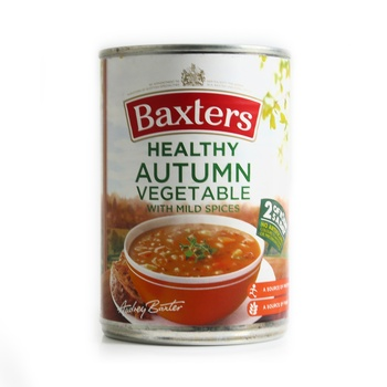 Baxters Autumn Vegetable Soup With Mild Spice 400g