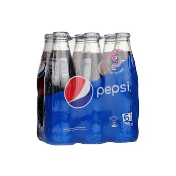 Pepsi, Carbonated Soft Drink, Glass Bottle, 250ml x 6